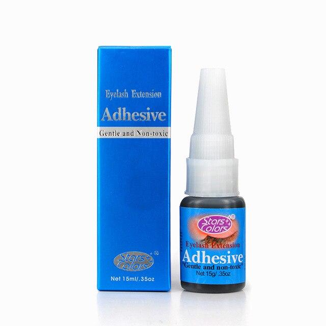 50 bottles lot For Practice 15ml Black Professional with Odor Eyelash Glue Individual False Eyelashes Extension