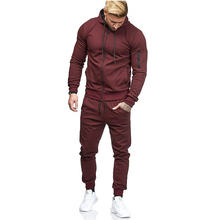 Mens Sports Suit Arm Zipper Decoration Fitness Leisure Running jogging suits for men  workout clothes