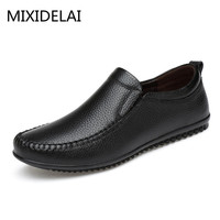 2017 Top Quality Men Flats Shoes Genuine Leather Men Shoes Handmade Loafers Moccasins Driving Shoes Plus