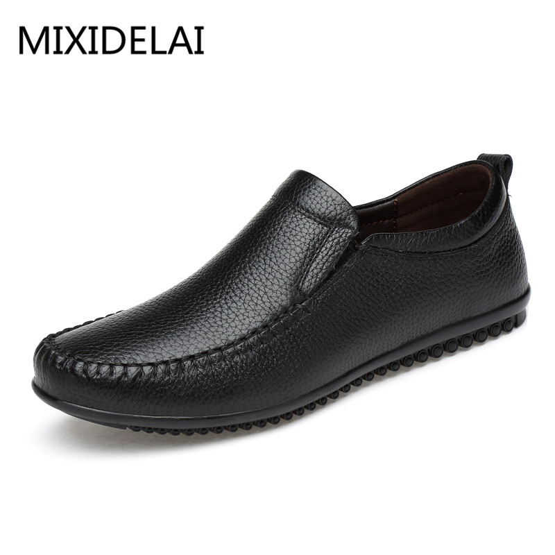 2017 Top Quality Men Flats Shoes Genuine Leather Men Shoes Handmade Loafers Moccasins Driving Shoes Plus size 38-46 high quality genuine leather men shoes lace up casual shoes handmade driving shoes flats loafers for men oxfords shoes