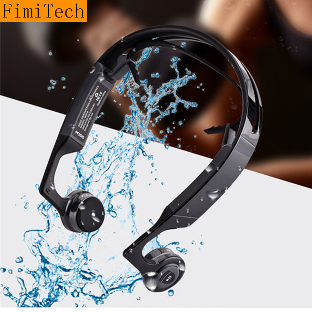 Bone Conduction Bluetooth Headphone Sweatproof Sport Smart Wireless Headset Hifi Earphone with Mic Fone De Ouvido KulaklIk bluetooth earphone wireless music headphone car kit handsfree headset phone earbud fone de ouvido with mic remax rb t9