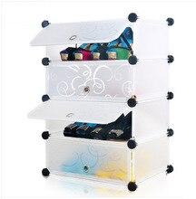 Four a simple shoe rack multifunction creative magic piece combination plastic lockers