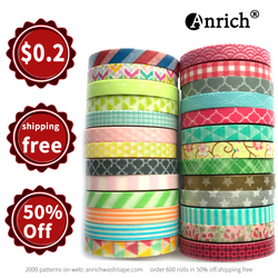 Free Shipping washi tape,Anrich washi tape 26 patterns as a Lot in 6mm x 5m,customizable,washi paper tape,26 rolls #34301-34326