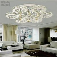 Large foyer modern chandelier Industrial LED crystal chandelier Fixture Staircase lighting Ring Lustre home lighting fixture