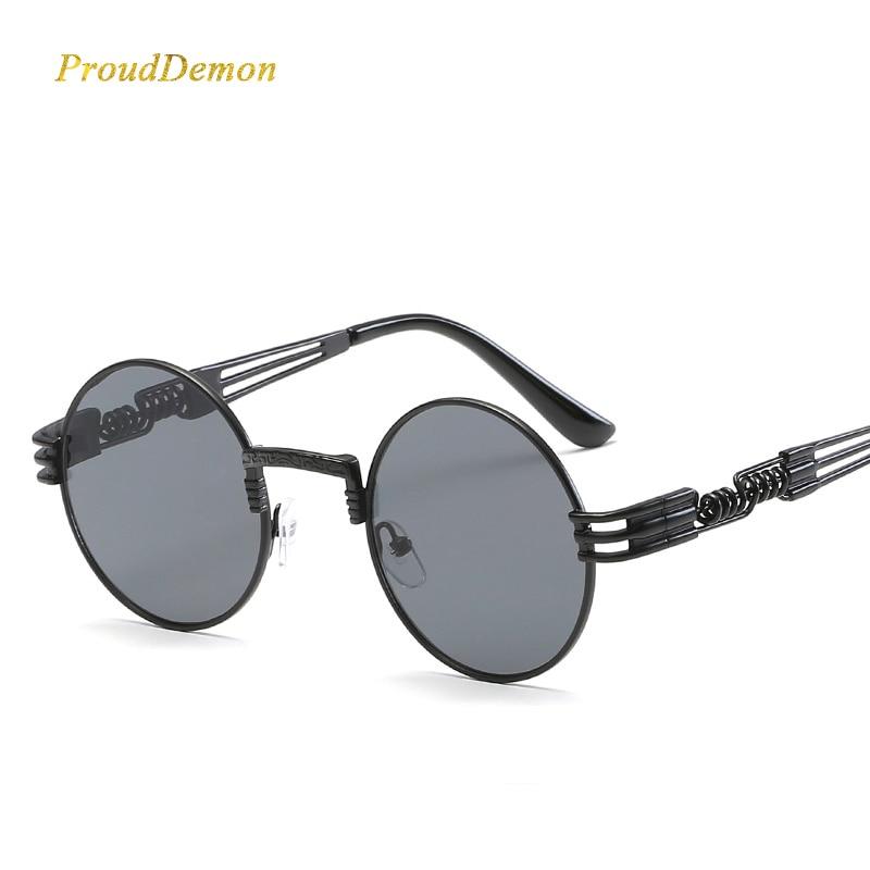 Gothic Steampunk Sunglasses Wanita Pria Logam Bungkus Kacamata - Aksesori pakaian - Foto 3