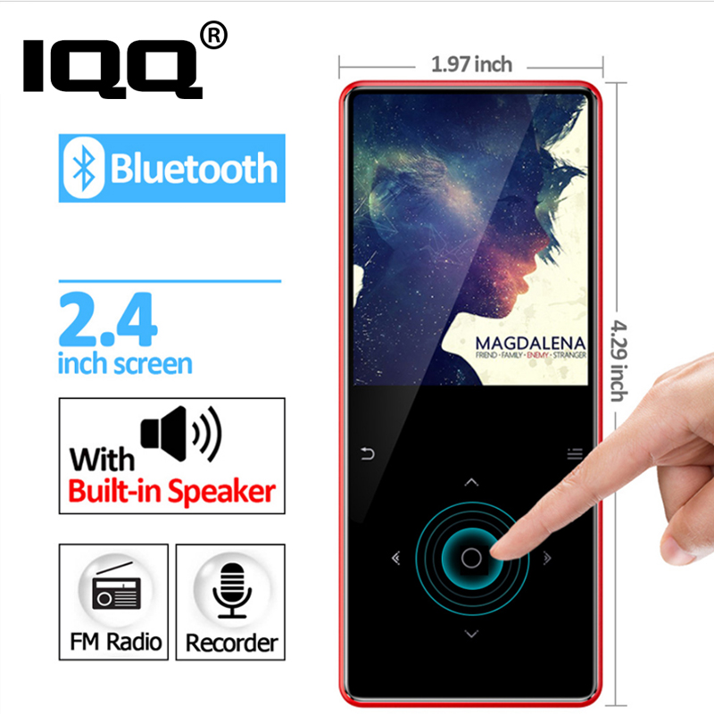 New Bluetooth 4.1 touch screen MP3 player Bulit-in 16GB and Speaker with FM radio/recording Portable Slim Lossless Sport Walkman