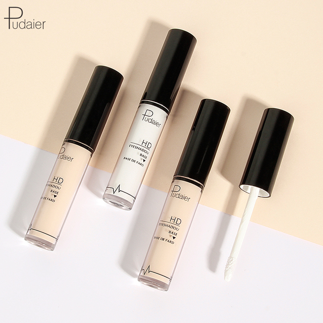 Pudaier 2 Colors EyeShadow Primer Eye Makeup Face Base Cream Natural 24 Hours Lasting-makeup Eye Shadow Pallete Color Cosmetic 1