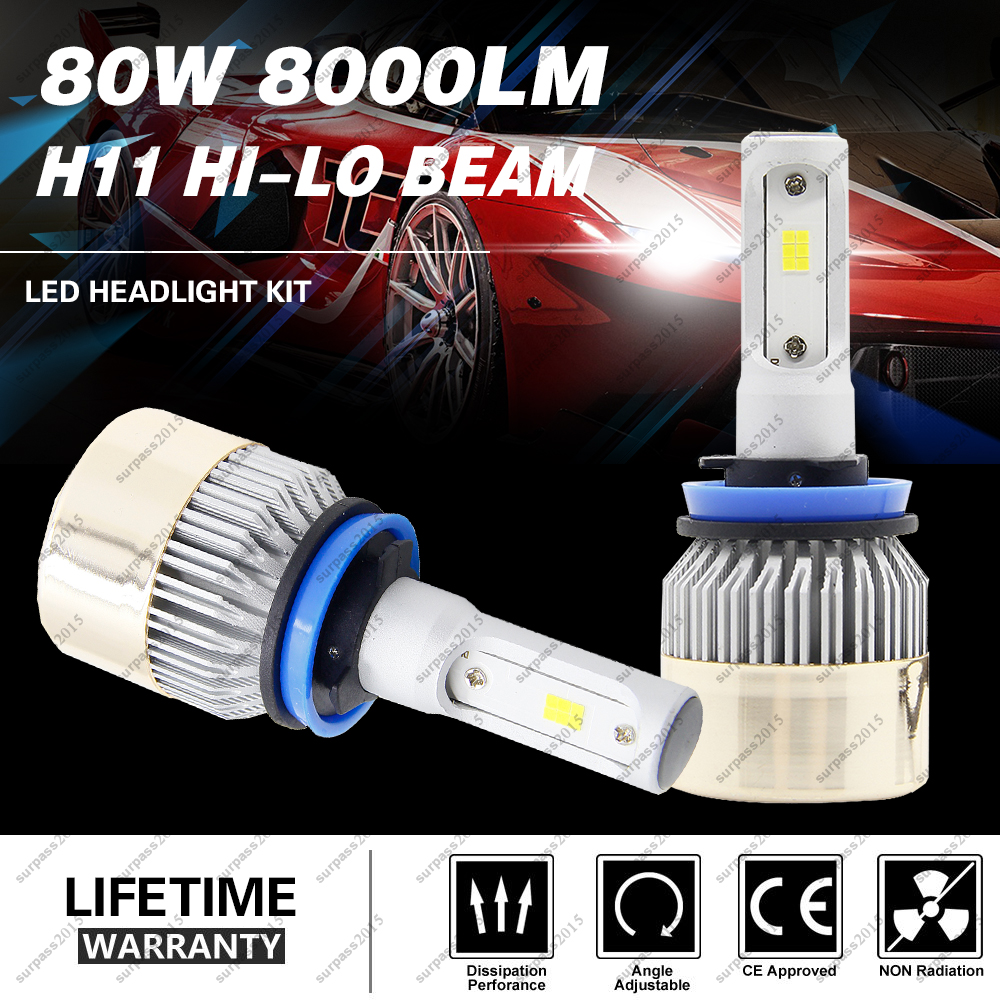 H11 80W For Philips Chips Hi-Lo Beam Car Headlight Canbus Light Auto Front Lamp Fog Lights Replacenment LED Bulb Headlamp Kit new arrival 5 in 1 electric facial washing cleaning machine face skin care vibrator massager powered facial cleansing device