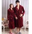 2016 Outono E Inverno Senhoras de Mangas Compridas dos homens Quentes de Espessura Coral de Veludo Terno Casa night-robe Biscoitos Softs Conjuntos de pijama