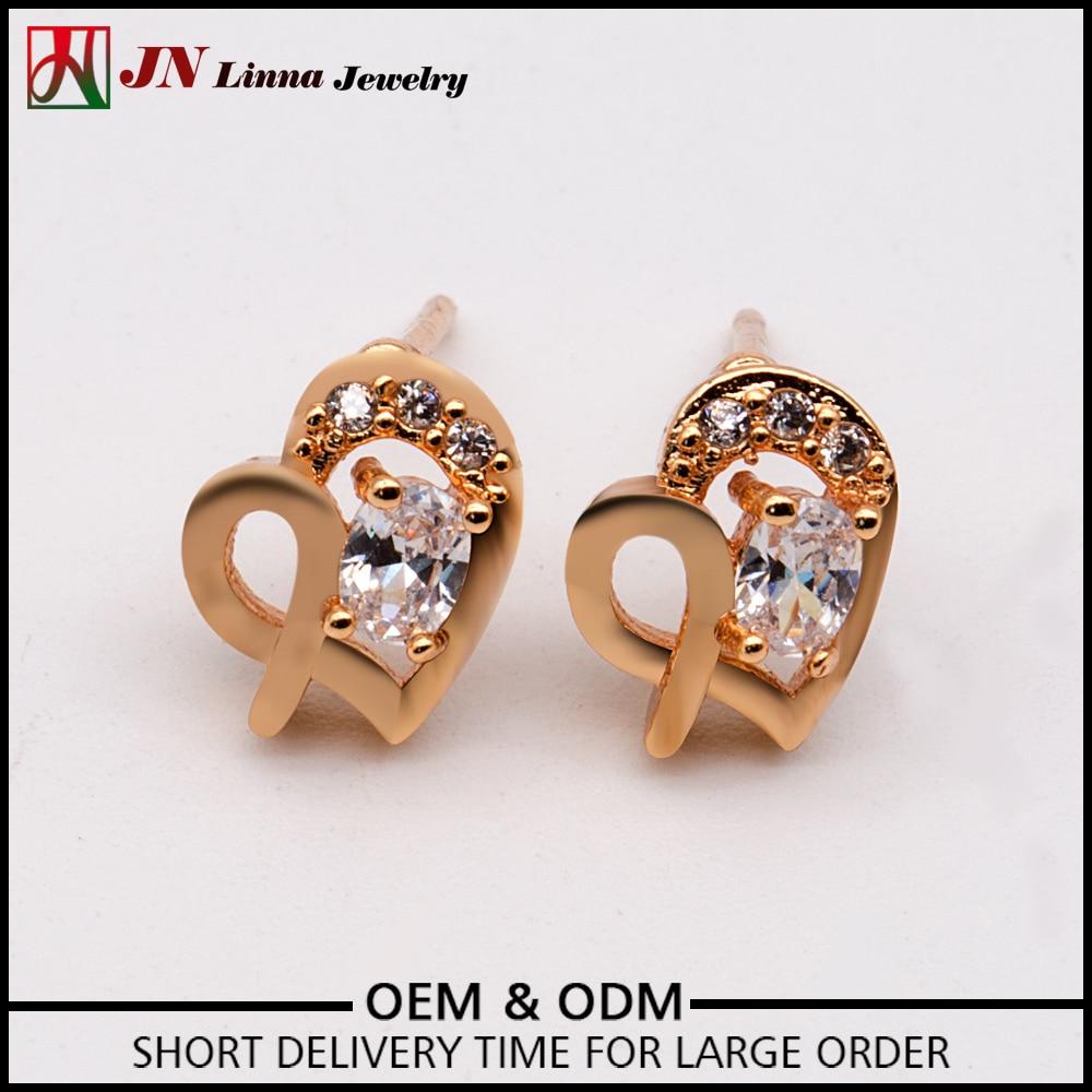 JN Beautiful heart shaped small earrings fashion ladies High ...
