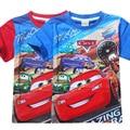Мальчики T-shirt 2017 лето новый стиль автомобиль тотальная мобилизация с коротким рукавом мультфильм хлопок водяной знак детские футболки