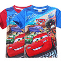 Meninos T-shirt 2017 verão new style car mobilização total-marca d' água dos desenhos animados de algodão de manga curta t-shirt das crianças
