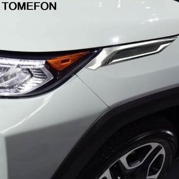 TOMEFON Per Toyota RAV4 RAV 4 2019 2020 Auto Anteriore Lampada della Luce Della Testa Del Faro Sopracciglio Strisce di Copertura Trim Accessori Esterni ABS
