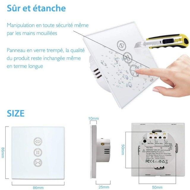 EU WiFI Smart Curtain Switch Google Home Alexa echo Voice Control Electric Blind Roller Shutter Motor Tuya Smart Life App Timer 5