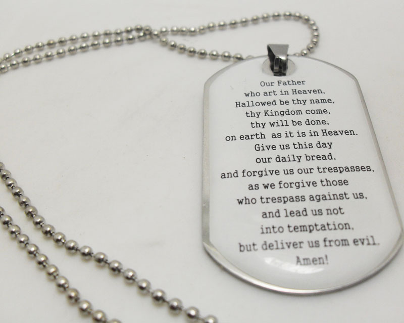 10pcs english lords serenity prayer bible mens stainless steel 10pcs english lords serenity prayer bible mens stainless steel pendant necklace with chain wholesale fashion jewelry in pendants from jewelry aloadofball Images