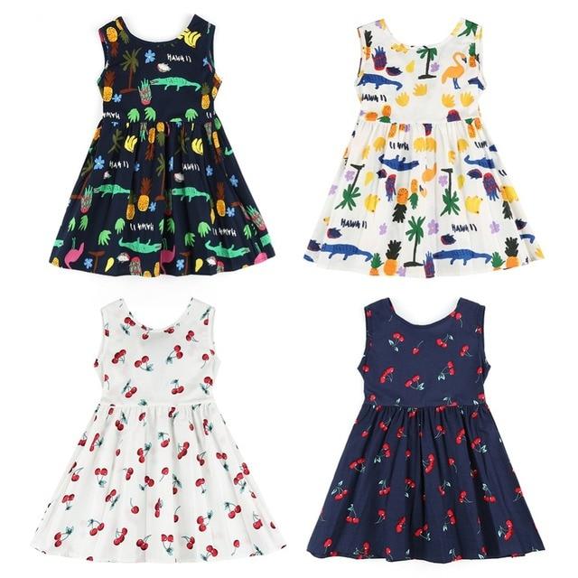 efd4ac229 Summer Girls Dress Kids Children Princess Dress For Girls Sleeveless Plaid  Dress Soft Cotton Princess Dresses