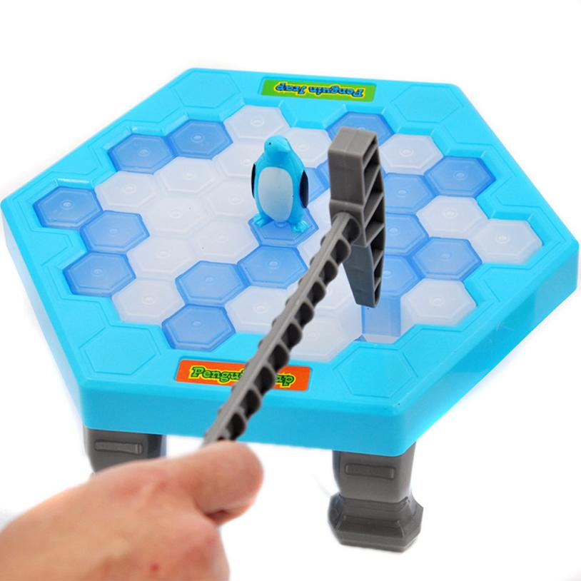 Free Shipping HOT Save Penguin Ice Kids Puzzle Game Break Ice Block Hammer Trap Party Toy Cherryb
