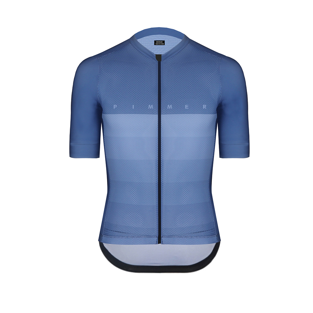 Pimmer 2019 Summer Climber Lightweight Cycling Jersey Short Sleeve Cycling Wear For Hottest Days Ride Blue Gray