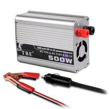 Car Inverter 500W DC 12V to AC 220V 50Hz Auto Inverter 12 220 Cigarette Lighter Plug Power Converter Inverter Peak Power 1000W car power inverter dc12v to ac220v 50hz 500w charge battery function