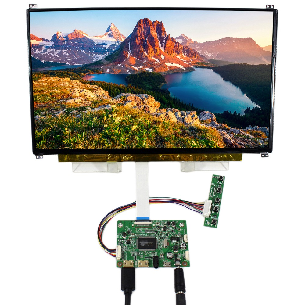HDMI Mini LCD Controller Board With 13.3inch 1920x1080 N133HSE EDP IPS LCD Screen vga hdmi lcd edp controller board led diy kit for lp116wh6 spa1 lp116wh6 spa2 11 6 inch edp 30 pins 1lane 1366x768 wled ips tft