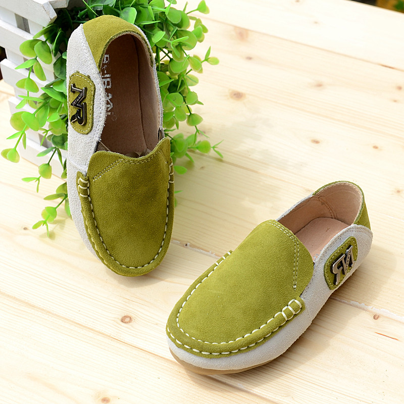 2018 Spring New Childrens Casual Shoes Baby Boys Genuine Leather Shoes Kids Boy Comfort Peas Shoes Fashion Sneakers MX17