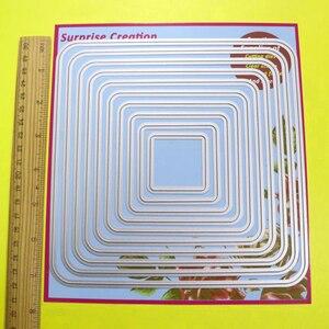 Image 5 - 2 Bộ Cắt Lớn Chết Góc Tròn Hình Chữ Nhật & VUÔNG Cardmaking Sổ Lưu Thủ Công DIY Bất Ngờ Sáng Tạo Qua Đời
