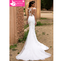2017 Mermaid Wedding Dresses Vestidos De Noiva Renda Lace Wedding Gowns Removable Train Hot Sale Vintage Wedding Dress W201713