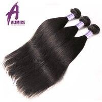 Peruanischen Glattes Haar Bundles Nicht Remy Menschenhaar-webart Bundles Maschinendoppelschuß Alimice Haarverlängerung Natürliche Farbe