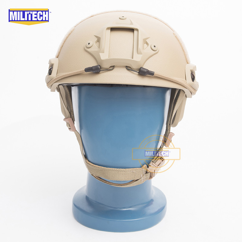 MILITECH FAST Tan FA Style Super ABS Airsoft Tactical Helmet Ops Core Style High Cut Training