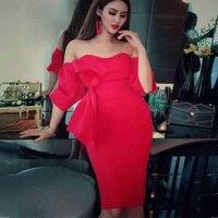 Модные черные, красные, розовые с бантом Знаменитости летнее вечерние платье для вечеринок Высокое качество для женщин без бретелек коротк...