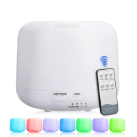 Remote Control Essential Oil Diffuser 300ml Ultrasonic Aroma Cool Mist Humidifier With 7 Color Light Changing