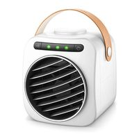 USB Air Cooler Mini Portable Digital Display Air Conditioner With Handle Fan Water Cooling Fan Noiseless Evaporative Air Humidif