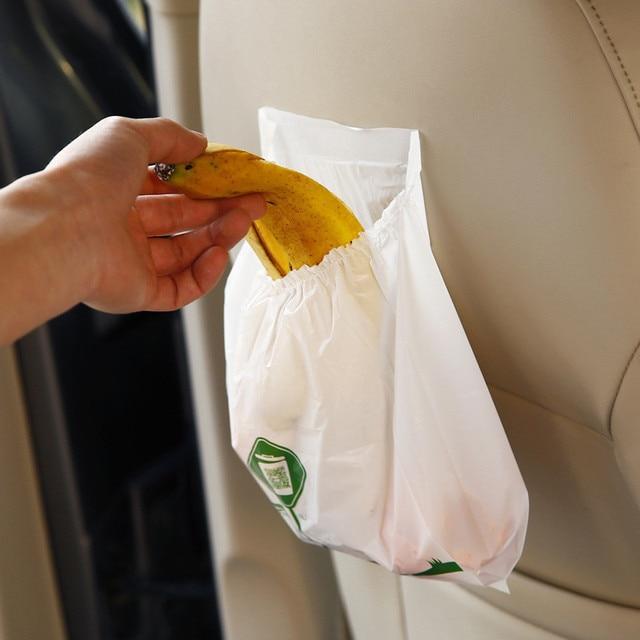 15PCS Car Waterproof Garbage Trash bag Environmental protection once Seat Organizer Bags storage bag Car Styling Stowing Tidying