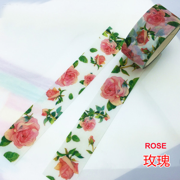 Beautiful 20mm*5m  High Quality  Washi Paper  Tape/Beautiful Red Rose  Masking  Japan  Washi Tape