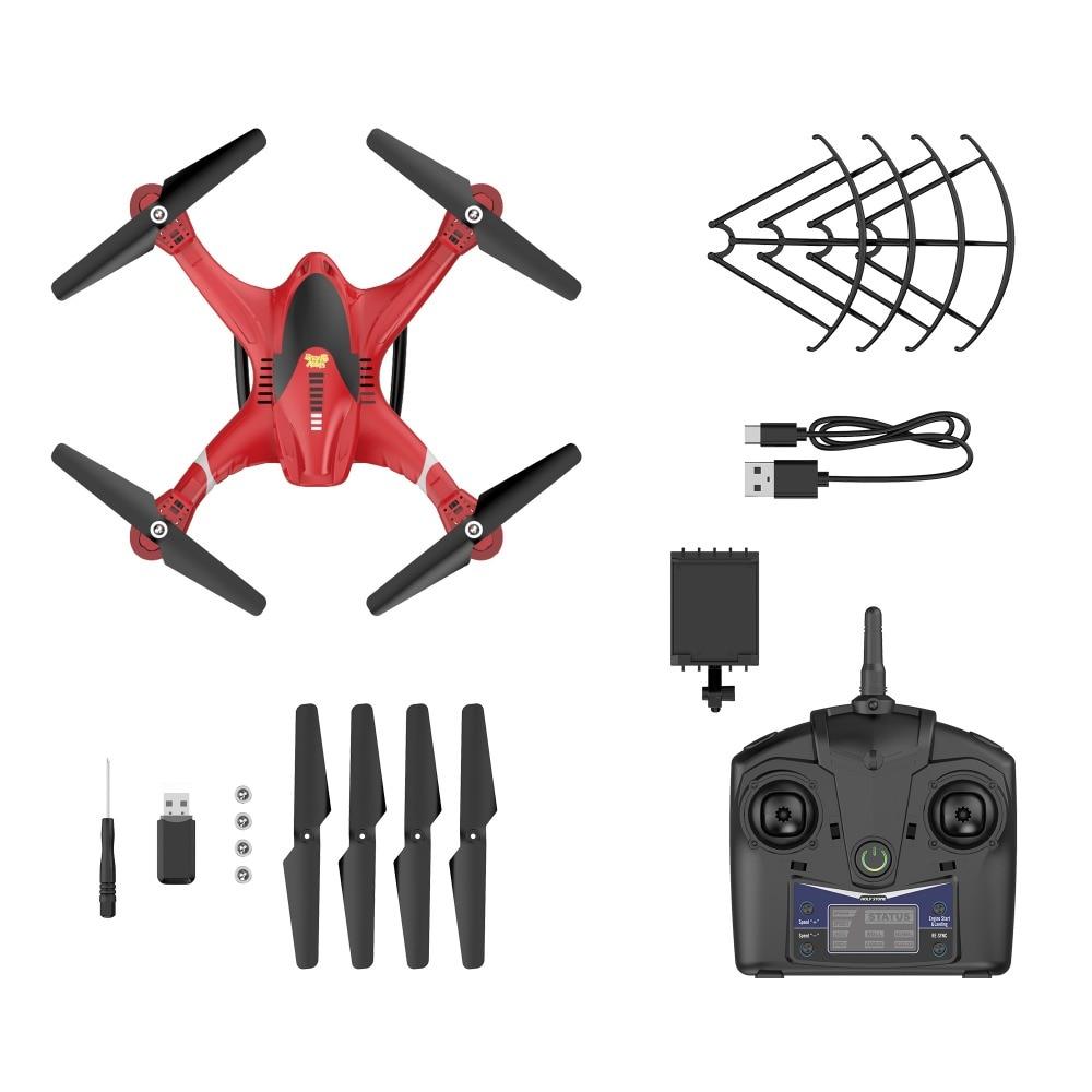 Holy Stone HS200 Red RC Drone con cámara FPV HD Wifi en vivo con - Juguetes con control remoto - foto 6