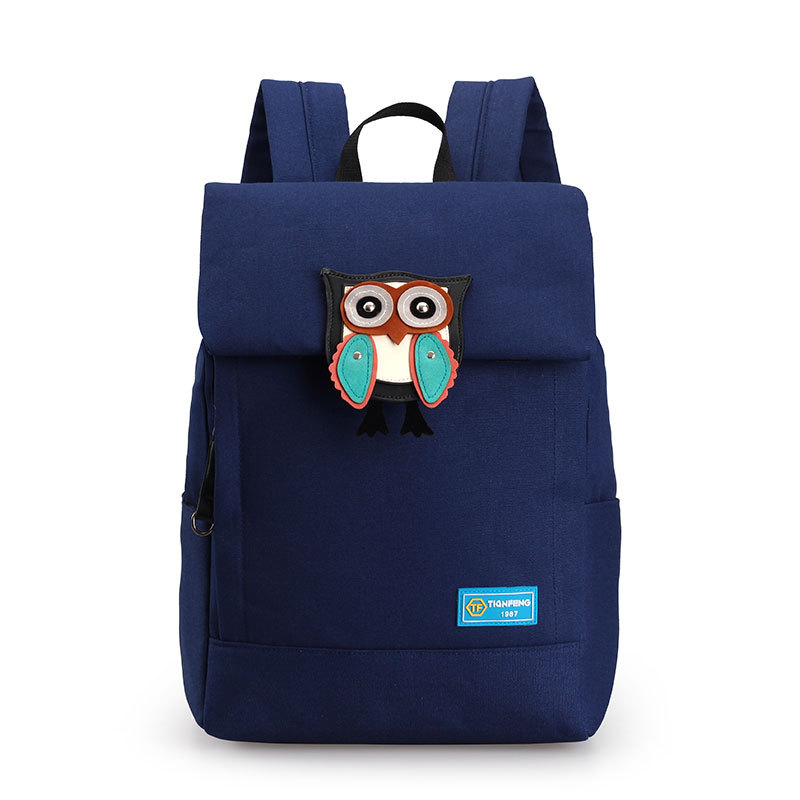 New Arrival Canvas Preppy Style Women Backpack Cartoon Owl Printing Rucksack Bag Large Capacity Laptop School Bag for Teenagers 2017 new women printing backpack canvas school bags for teenagers shoulder bag travel bagpack rucksack bolsas mochilas femininas