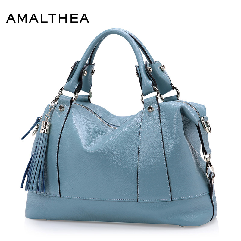 AMALTHEA Brand Women Leather Handbags Tassel Samll Bag Ladies Hand Woman Crossbody Genuine Leather Bags For Women 2017 AMAG038 retail fashional women leather handbags lady shoulder messenger bags woman tassel ladies hand bag 4 colors