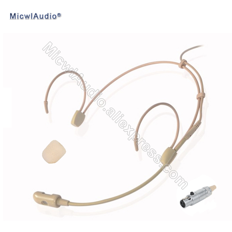 Pro Condenser Conference Unidirectional Headset Microphone 3Pin TA3F For AKG Samson Beige akg ec81 md beige