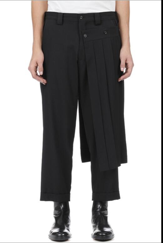 Y Pantalones 27 Gd Flojos Más Pierna Estilista Tamaño De Europea Americacasual Hombres Ropa La Anchos Negro 2018 42 Calles OOSBwqfC