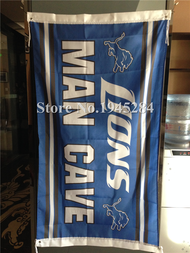 Dazzling Buy Nfl Detroit Lions Man Cave Flag New Flag Free Shipping
