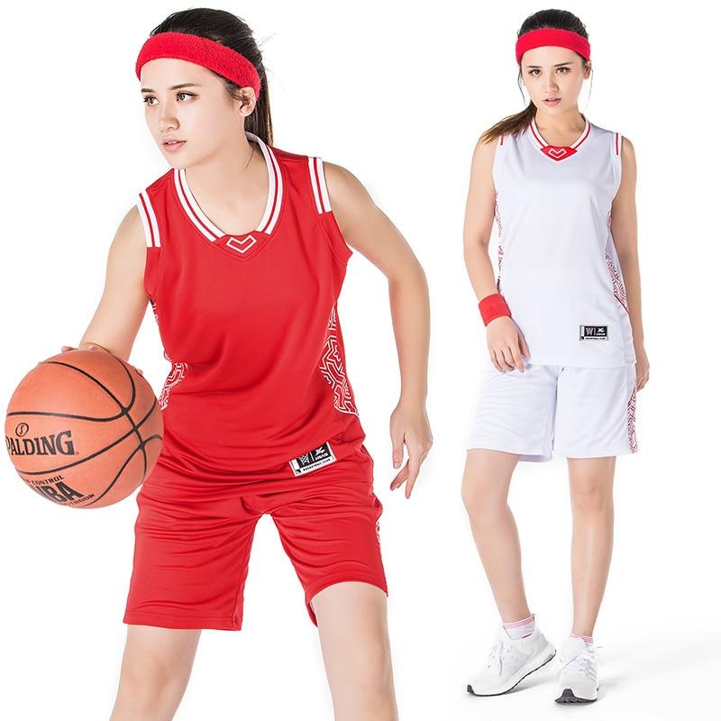 Basketball Suit Jerseys Shorts Women Team Custom Set Sportswear Girls Basketball Clothes DIY ...