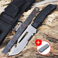 Voltron New Serrated Multifunctional Outdoor Tactical Saber Mountaineer Jungle Camping Survival Knife Survival Essential Portabl