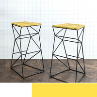 Simple Modern Solid Wood High Chair 38X33X75CM Bar Stool Backrest Fashion Bar Chair