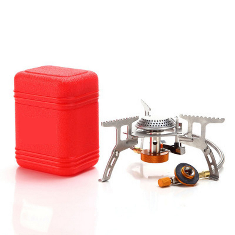 Portable Outdoor Camping Gas Stove Folding Convenient Gas Stove Suit For Travel Electronic Stove Split Stoves 3000w