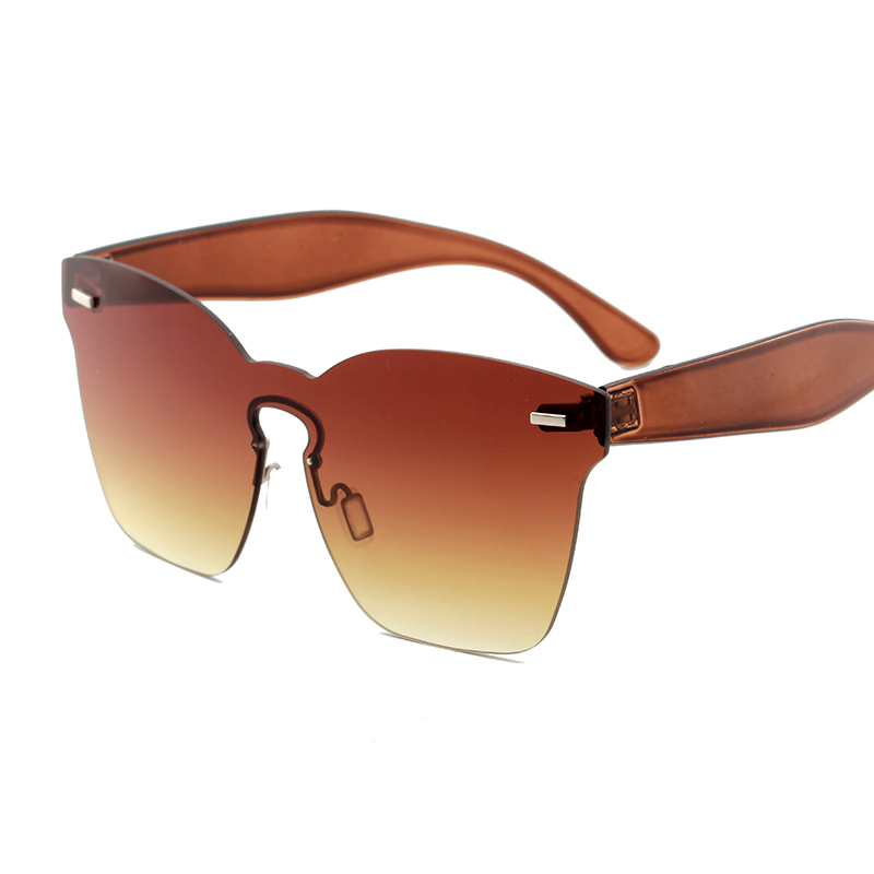 1aa9ef7352 ladies square oversized rimless sunglasses 2018 fashion brand designer  yellow red pink women shades big mirror driving glasses-in Sunglasses from  Women s ...