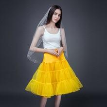 Crinoline Underskirt Tutu Halloween-Petticoat Short Wedding-Dresses Rockabilly Organza