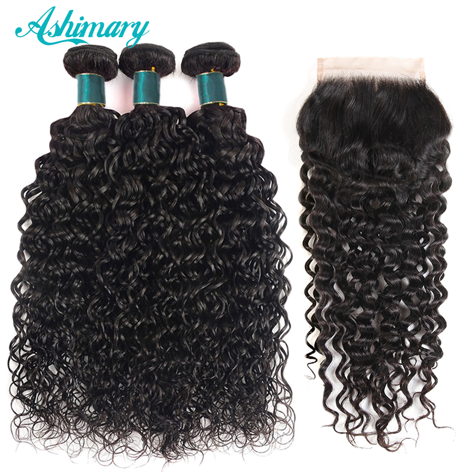Ashimary Hair Water Wave Bundles with