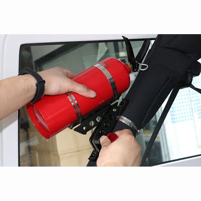 Support d'extincteur raccords en alliage d'aluminium réglable pince de montage d'extincteur pour Jeep Wrangler JL JK TJ