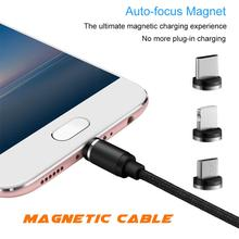 Newest Magnetic Micro USB Cable 1M 2.4A Magnet Charger Cord For Samsung S4 S5 S6 Edge Charging Wire Xiaomi
