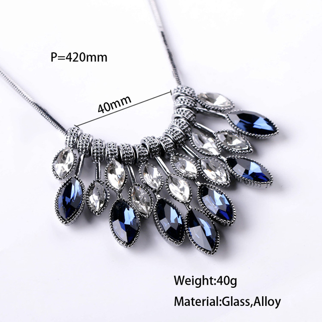 Meyfflin Statement Necklaces & Pendants Crystal Maxi Necklace for Women Female Chain Collar Collier Femme 2017 Fashion Jewelry